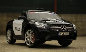 Masinuta electrica de politie Mercedes SL500 90W STANDARD #Negru9