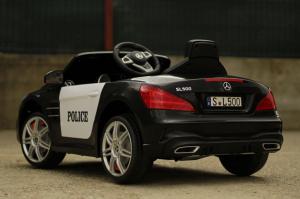 Masinuta electrica de politie Mercedes SL500 90W STANDARD #Negru7