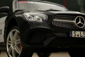 Masinuta electrica de politie Mercedes SL500 90W PREMIUM #Negru [3]