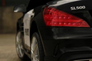Masinuta electrica de politie Mercedes SL500 90W STANDARD #Negru11