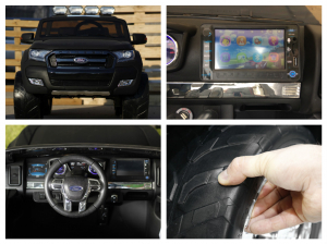 Masinuta electrica pentru copii Ford Ranger, negru [8]