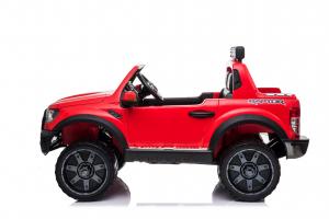 Masinuta electrica Ford Ranger 90W 12V cu Scaun TAPITAT #Rosu1
