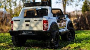 Masinuta electrica Ford Ranger F650 POLICE STANDARD 2x 35W 12V #Alb5