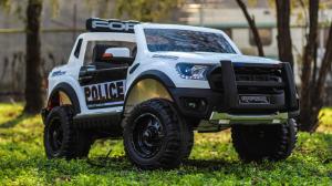 Masinuta electrica Ford Ranger F650 POLICE STANDARD 2x 35W 12V #Alb2