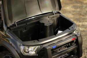 Masinuta electrica Ford Ranger POLICE 90W cu Scaun TAPITAT #Negru4