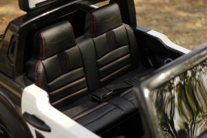 Masinuta electrica Ford Ranger POLICE 90W cu Scaun TAPITAT #Negru8