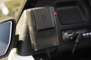 Masinuta electrica Ford Ranger POLICE 90W cu Scaun TAPITAT #Negru12