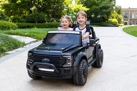 Ford Super Duty F450 pentru copii, 4x4 180W, negru [9]