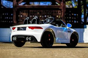 Masinuta electrica Jaguar F Type cu ROTI MOI 2x 35W 12V #ALB5