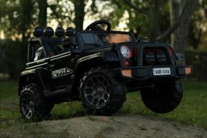Masinuta electrica Jeep BRD-7588 90W 12V cu Scaun Tapitat #Negru13