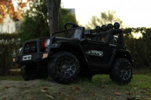 Masinuta electrica Jeep BRD-7588 90W 12V cu Scaun Tapitat #Negru7