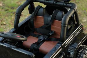 Masinuta electrica Jeep BRD-7588 90W 12V cu Scaun Tapitat #Negru2