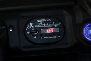 Masinuta electrica Jeep BRD-7588 90W 12V cu Scaun Tapitat #Negru3