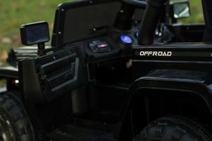 Masinuta electrica Jeep BRD-7588 90W 12V cu Scaun Tapitat #Negru11