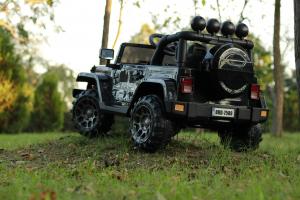 Masinuta electrica Jeep BRD-7588 90W 12V cu Scaun Tapitat #Negru4