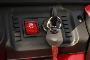 Masinuta electrica Jeep BRD-7588 90W 12V cu Scaun Tapitat #Rosu7