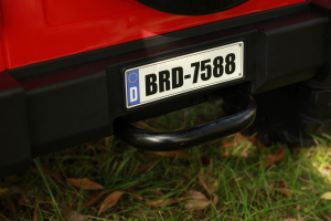 Masinuta electrica Jeep BRD-7588 90W 12V cu Scaun Tapitat #Rosu9