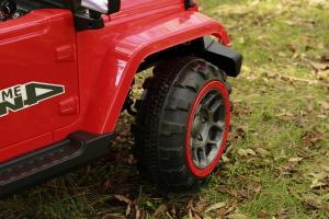 Masinuta electrica Jeep BRD-7588 90W 12V cu Scaun Tapitat #Rosu14