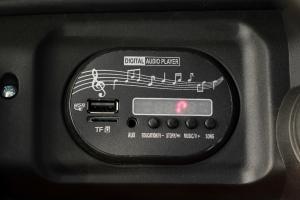 Masinuta electrica Jeep BRD-7588 90W 12V cu Scaun Tapitat #Rosu6