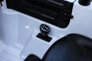 Masinuta electrica Jeep BRD-7588 90W 12V cu Scaun Tapitat #Alb10