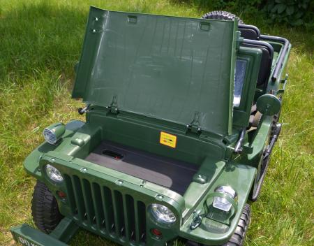Masinuta electrica Jeep USA ARMY 4X4 180W PREMIUM #Verde [21]