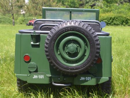 Masinuta electrica Jeep USA ARMY 4X4 180W PREMIUM #Verde [23]
