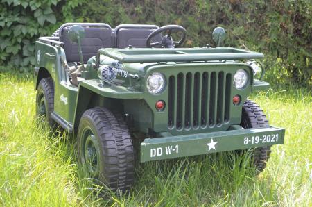 Masinuta electrica Jeep USA ARMY 4X4 180W PREMIUM #Verde [14]