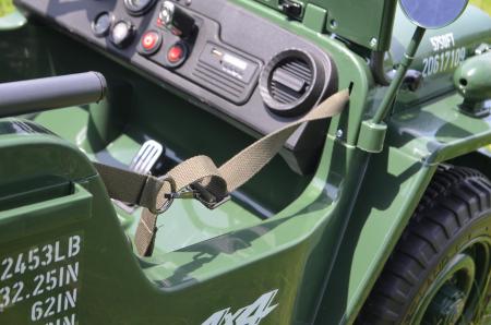 Masinuta electrica Jeep USA ARMY 4X4 180W PREMIUM #Verde [13]