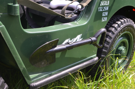 Masinuta electrica Jeep USA ARMY 4X4 180W PREMIUM #Verde [18]