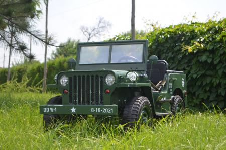 Masinuta electrica Jeep USA ARMY 4X4 180W PREMIUM #Verde [2]
