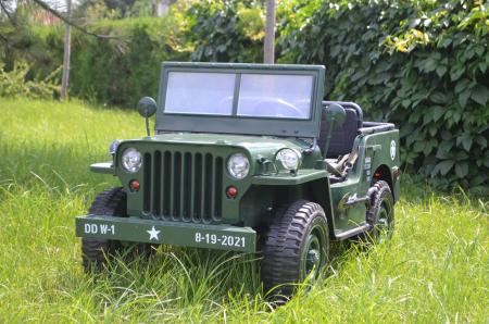 Masinuta electrica Jeep USA ARMY 4X4 180W PREMIUM #Verde [1]