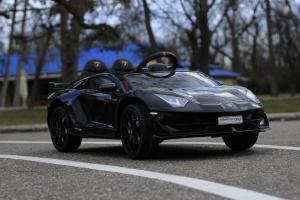 Masinuta electrica Lamborghini Aventador SVJ 2x35W 12V PREMIUM #Negru3
