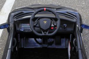Masinuta electrica Lamborghini Aventador SVJ 2x35W 12V PREMIUM #Negru5