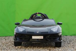 Masinuta electrica Lamborghini Aventador SVJ 2x35W 12V PREMIUM #Negru2