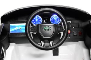 Masinuta electrica Land Rover Discovery DELUXE cu Touchscreen Mp4 #Negru1