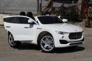 Masinuta electrica Maserati Levante 2x35W PREMIUM #Alb4