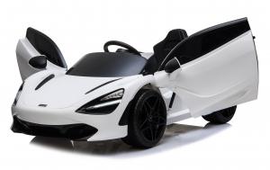Masinuta electrica McLaren 720S 90W 12V PREMIUM #Alb0