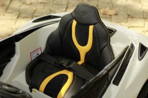 Masinuta electrica McLaren 720S 90W 12V PREMIUM #Alb5