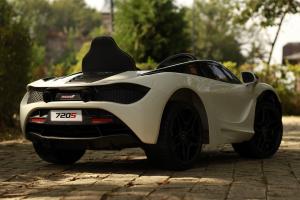 Masinuta electrica McLaren 720S 90W 12V PREMIUM #Alb16