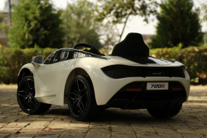 Masinuta electrica McLaren 720S 90W 12V PREMIUM #Alb15