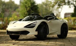 Masinuta electrica McLaren 720S 90W 12V PREMIUM #Alb3