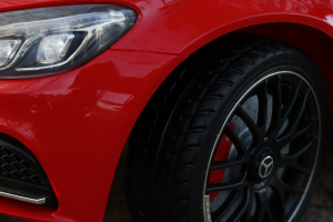 Masinuta electrica Mercedes C63 12V PREMIUM #Rosu14
