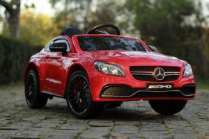 Masinuta electrica Mercedes C63 12V PREMIUM #Rosu5