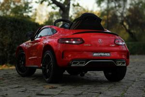 Masinuta electrica Mercedes C63 12V PREMIUM #Rosu3