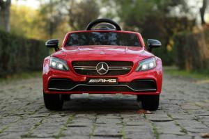 Masinuta electrica Mercedes C63 12V PREMIUM #Rosu1