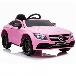 Masinuta electrica Mercedes C63 12V STANDARD #Roz [0]