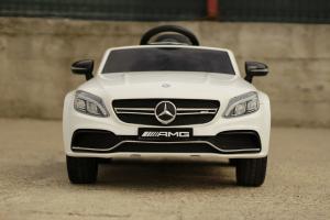 Masinuta electrica Mercedes C63 12V STANDARD #Alb1