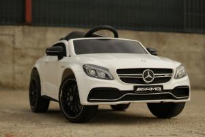 Masinuta electrica Mercedes C63 12V STANDARD #Alb3