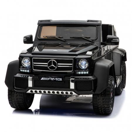 Masinuta electrica copii Mercedes G63 6x6 270W, neagra [0]