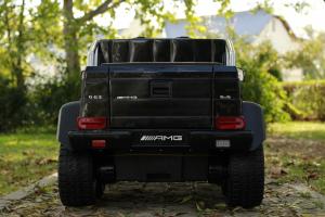 Masinuta electrica copii Mercedes G63 6x6 270W, neagra [5]